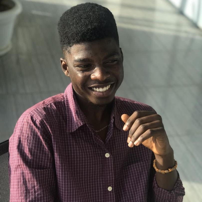 A photo of Aquila Adegbola, a recent 2020 Summer intern at Econexus Ventures Limited working with the Marketing and Research Department.